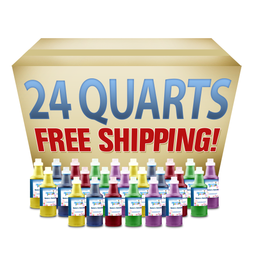 24 Quarts Snow Cone Syrup = Free Shipping! (Ralphs)