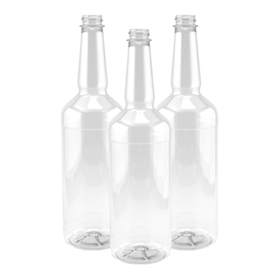 Clear Long Neck Bottles (32 oz)